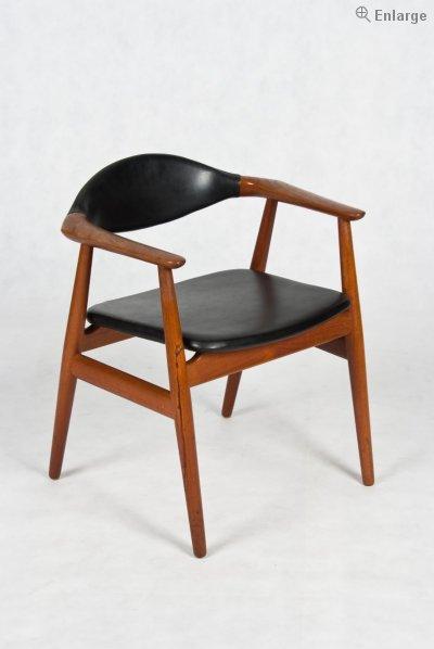 Danish Teak arm chair by Erik Kirkegaard